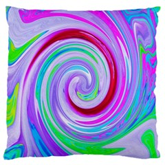 Groovy Abstract Red Swirl On Purple And Pink Standard Flano Cushion Case (two Sides) by myrubiogarden