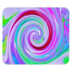 Groovy Abstract Red Swirl On Purple And Pink Double Sided Flano Blanket (small)  by myrubiogarden