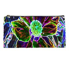 Abstract Garden Peony In Black And Blue Pencil Cases by myrubiogarden