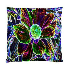 Abstract Garden Peony In Black And Blue Standard Cushion Case (two Sides) by myrubiogarden