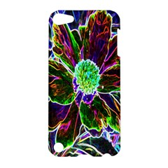 Abstract Garden Peony In Black And Blue Apple Ipod Touch 5 Hardshell Case by myrubiogarden