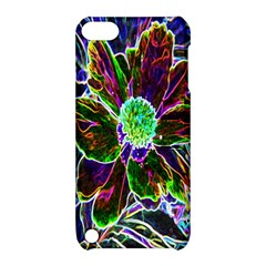 Abstract Garden Peony In Black And Blue Apple Ipod Touch 5 Hardshell Case With Stand by myrubiogarden