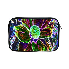 Abstract Garden Peony In Black And Blue Apple Ipad Mini Zipper Cases by myrubiogarden