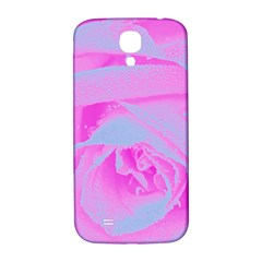 Perfect Hot Pink And Light Blue Rose Detail Samsung Galaxy S4 I9500/i9505  Hardshell Back Case by myrubiogarden