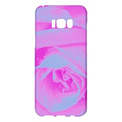 Perfect Hot Pink And Light Blue Rose Detail Samsung Galaxy S8 Plus Hardshell Case  by myrubiogarden