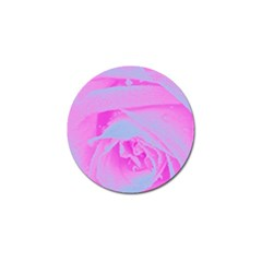 Perfect Hot Pink And Light Blue Rose Detail Golf Ball Marker (10 Pack)