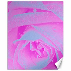 Perfect Hot Pink And Light Blue Rose Detail Canvas 16  X 20  by myrubiogarden