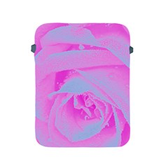 Perfect Hot Pink And Light Blue Rose Detail Apple Ipad 2/3/4 Protective Soft Cases