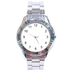 Pattern Abstract Graphic District Stainless Steel Analogue Watch