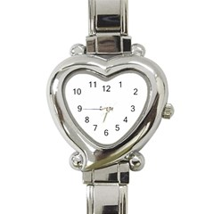 Autumnal Leaves Pattern Heart Italian Charm Watch by Sapixe