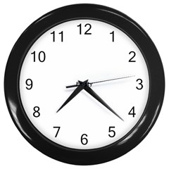 Colorful Balloons Render Wall Clock (black)