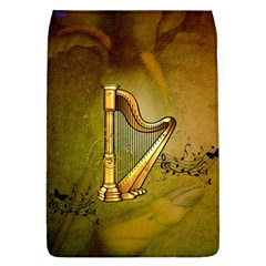 Wonderful Golden Harp On Vintage Background Removable Flap Cover (l) by FantasyWorld7