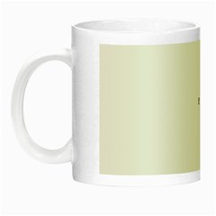 Abstract Green Plaid Night Luminous Mugs