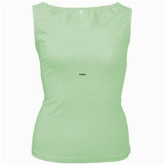 Textured Color Spiral Women s Green Tank Top