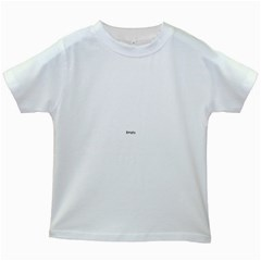 Textured Color Spiral Kids White T Shirts