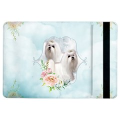 Cute Little Maltese With Flowers Ipad Air 2 Flip by FantasyWorld7