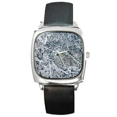 Marble Pattern Square Metal Watch by Alisyart