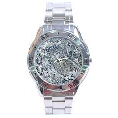 Marble Pattern Stainless Steel Analogue Watch by Alisyart