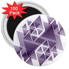 Geometry Triangle Abstract 3  Magnets (100 Pack) by Alisyart