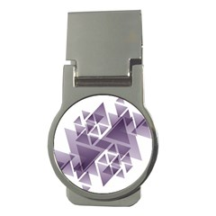 Geometry Triangle Abstract Money Clips (round)