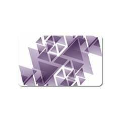 Geometry Triangle Abstract Magnet (name Card)