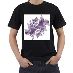 Geometry Triangle Abstract Men s T Shirt (black) (two Sided)