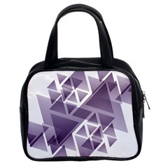 Geometry Triangle Abstract Classic Handbag (two Sides) by Alisyart