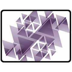 Geometry Triangle Abstract Double Sided Fleece Blanket (large)
