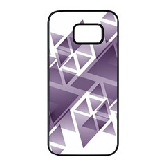 Geometry Triangle Abstract Samsung Galaxy S7 Edge Black Seamless Case by Alisyart
