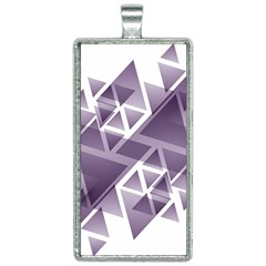 Geometry Triangle Abstract Rectangle Necklace