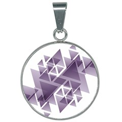 Geometry Triangle Abstract 25mm Round Necklace