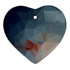 Triangle Geometry Trigonometry Heart Ornament (two Sides) by Mariart