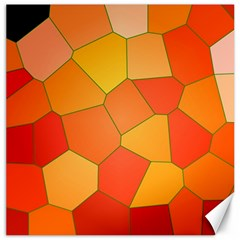 Background Pattern Orange Mosaic Canvas 20  X 20  by Mariart
