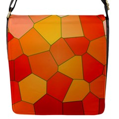 Background Pattern Orange Mosaic Flap Closure Messenger Bag (s) by Mariart