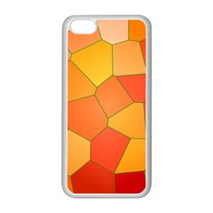 Background Pattern Orange Mosaic Apple Iphone 5c Seamless Case (white) by Mariart