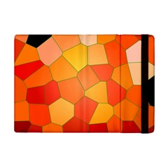 Background Pattern Orange Mosaic Ipad Mini 2 Flip Cases