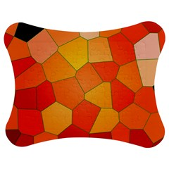 Background Pattern Orange Mosaic Jigsaw Puzzle Photo Stand (bow) by Mariart