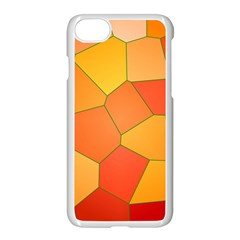 Background Pattern Orange Mosaic Apple Iphone 8 Seamless Case (white) by Mariart