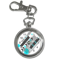 Green Geometric Abstract Key Chain Watches by Mariart