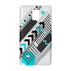 Green Geometric Abstract Samsung Galaxy Note 4 Hardshell Case by Mariart