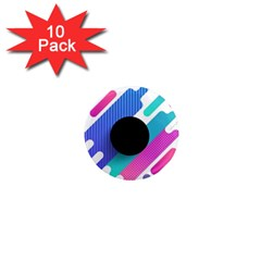 Cool Geometric Combination Of Decorative Circular Vector Background 1  Mini Magnet (10 Pack)  by AnjaniArt