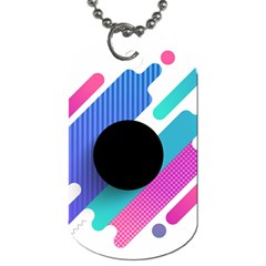 Cool Geometric Combination Of Decorative Circular Vector Background Dog Tag (two Sides) by AnjaniArt