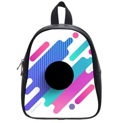 Cool Geometric Combination Of Decorative Circular Vector Background School Bag (small)