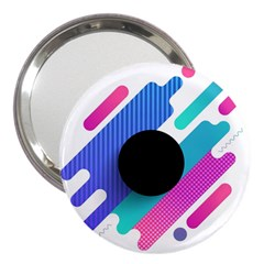 Cool Geometric Combination Of Decorative Circular Vector Background 3  Handbag Mirrors