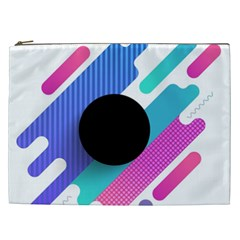 Cool Geometric Combination Of Decorative Circular Vector Background Cosmetic Bag (xxl) by AnjaniArt