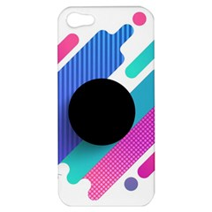 Cool Geometric Combination Of Decorative Circular Vector Background Apple Iphone 5 Hardshell Case by AnjaniArt