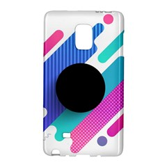 Cool Geometric Combination Of Decorative Circular Vector Background Samsung Galaxy Note Edge Hardshell Case by AnjaniArt