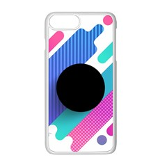 Cool Geometric Combination Of Decorative Circular Vector Background Apple Iphone 8 Plus Seamless Case (white)