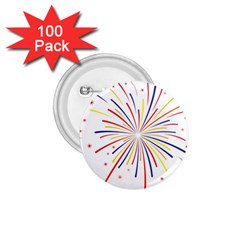 Graphic Fireworks Decorative 1 75  Buttons (100 Pack)