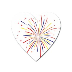 Graphic Fireworks Decorative Heart Magnet by AnjaniArt
